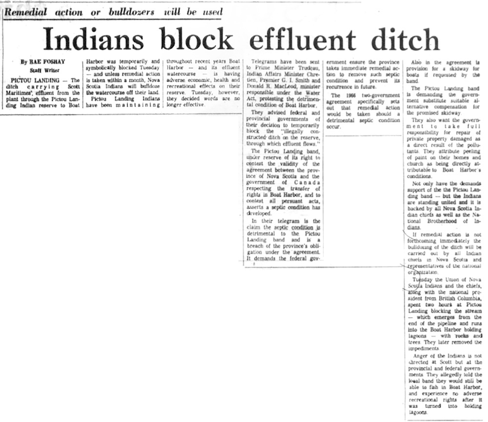 September 23: Indians Block Effluent Ditch